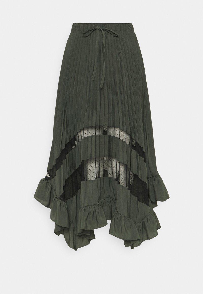 Claudie Pierlot - SELODE - Maxi skirt - vert foret