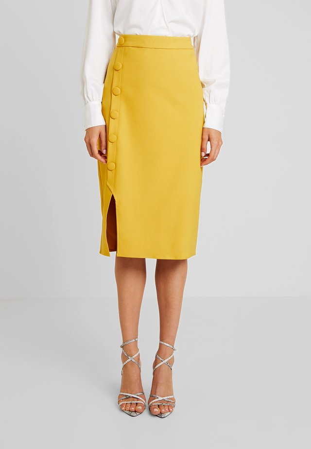 EXCLUSIVE LOUISA SKIRT - Wrap skirt - yellow