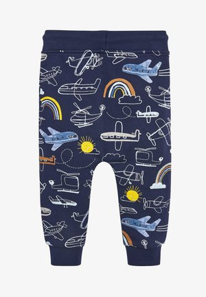 NAVY AEROPLANE ALL OVER PRINT JOGGERS (3MTHS-7YRS) - Tracksuit bottoms - blue