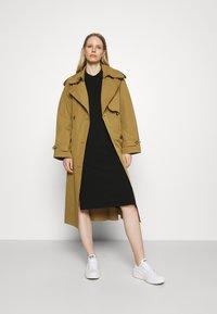 Marc O'Polo - DRESS LONGSLEEVE COLLAR WITH - Jumper dress - black - 1