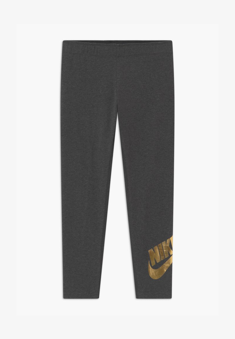 Nike Sportswear - FAVORITES SHINE - Legging - black heather/metallic gold