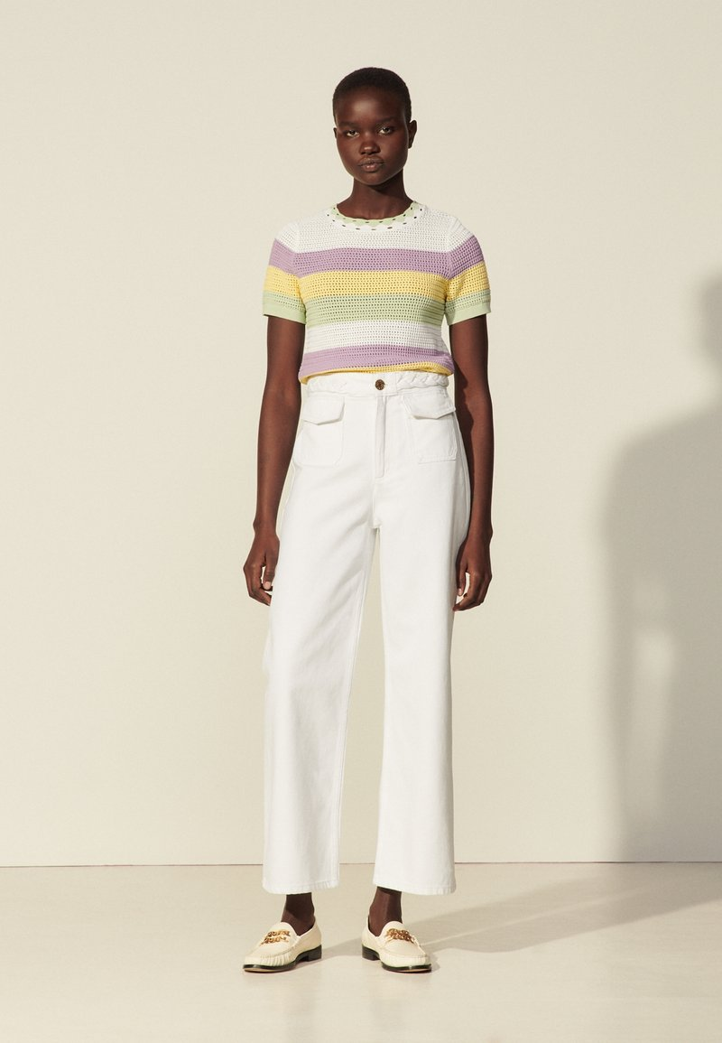 sandro - Straight leg jeans - blanc