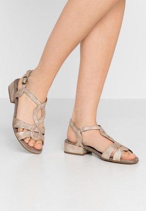 Sandals - bronze metall