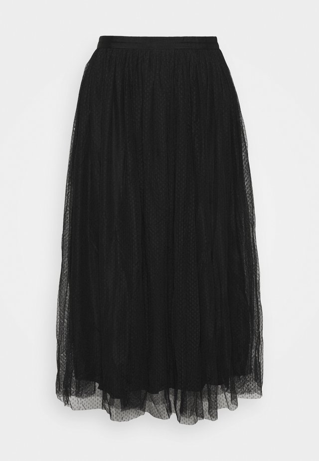 MIDI SKIRT - A-Linien-Rock - black