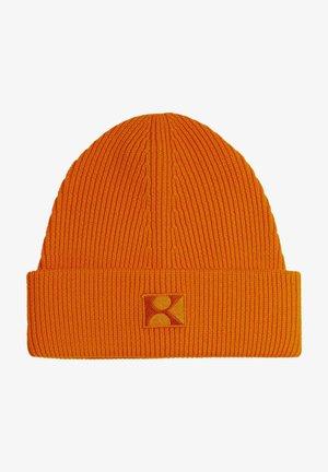 EN LAINE À PATCH BRODÉ K - Beanie - orange