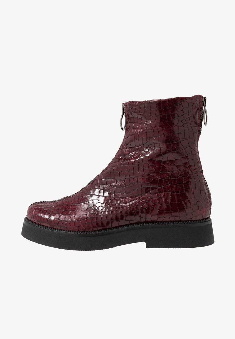 MJUS - Kotníkové boty na platformě - wine