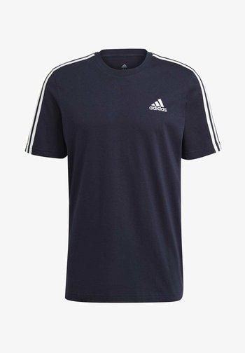 3-STRIPES SPORTS ESSENTIALS T-SHIRT - Print T-shirt - dark blue