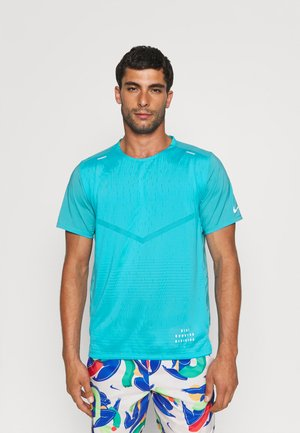 RISE - Print T-shirt - chlorine blue