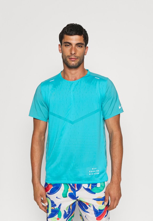 RISE - T-shirt con stampa - chlorine blue