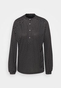 Marc O'Polo - LONG SLEEVE HIGH NECK - Long sleeved top - black - 0