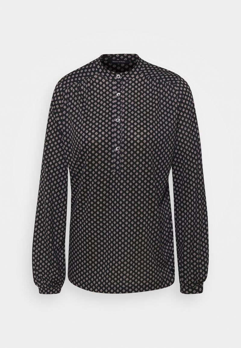 Marc O'Polo - LONG SLEEVE HIGH NECK - Long sleeved top - black
