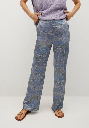 ESTAMPADO - Trousers - azul