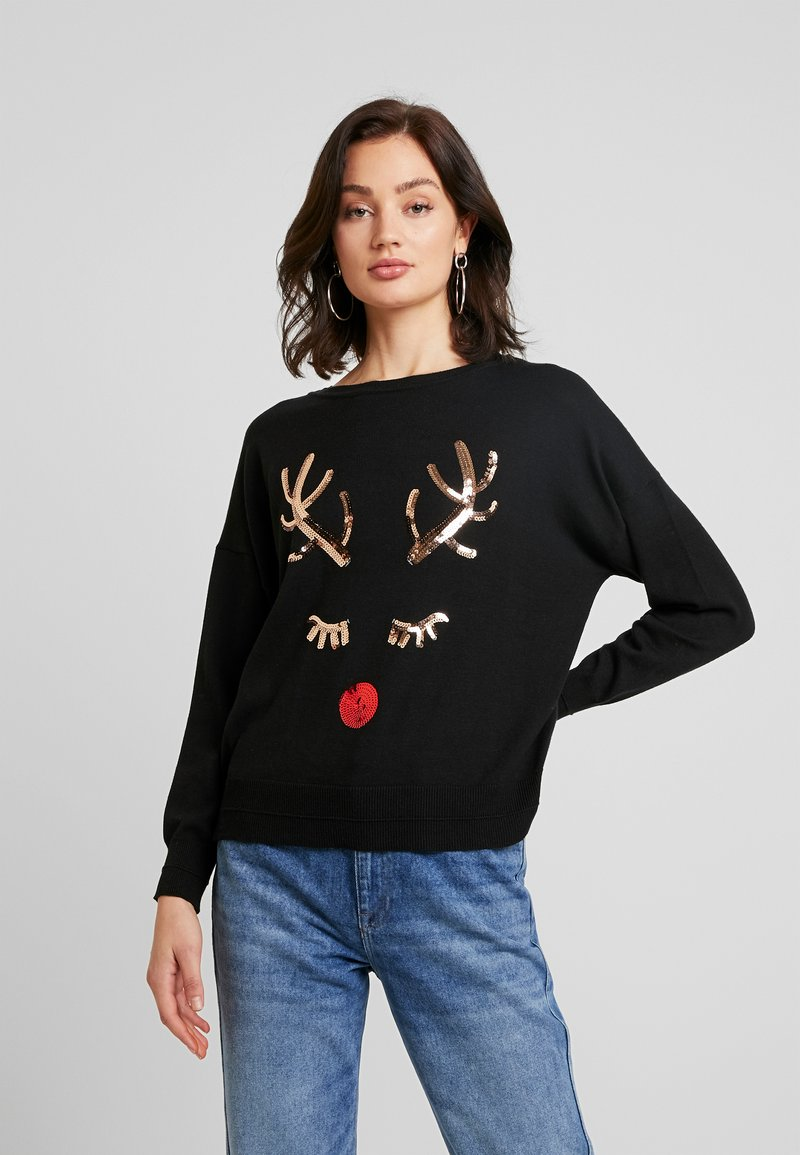 ONLY - ONLXDEER - Pullover - black/silver sequins