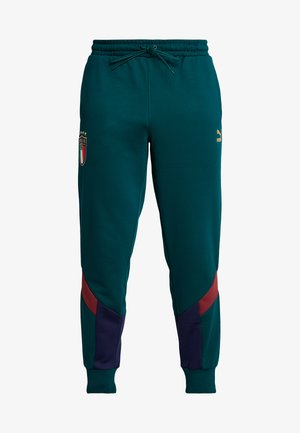 ITALIEN FIGC ICONIC MCS TRACK PANTS - Tracksuit bottoms - ponderosa pine/peacoat