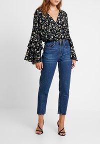Even&Odd - Jeans baggy - dark blue denim - 0
