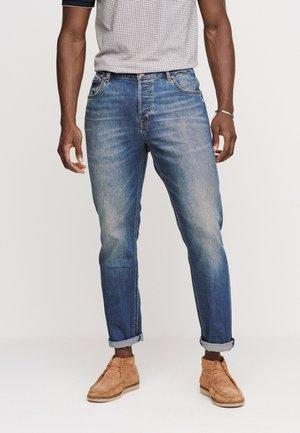 Straight leg jeans - mottled blue