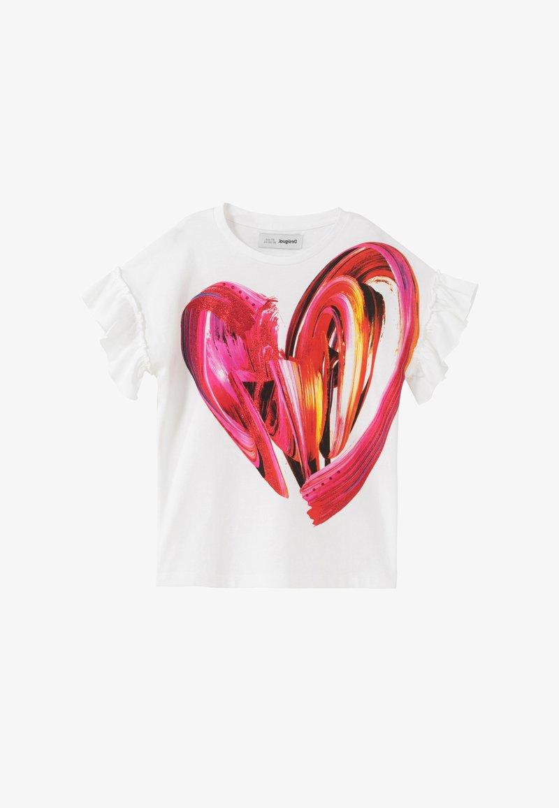 Desigual - BUDAPEST - Print T-shirt - white
