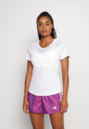 RUN IT TEE - Camiseta básica - white