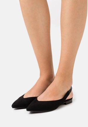 SLING BACK - Slingback ballet pumps - black