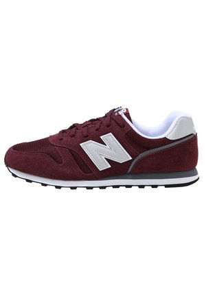 Sneakers - burgundy/white