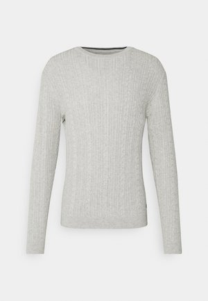ONSRIGE THIN CABLE CREW NECK - Stickad tröja - light grey melange