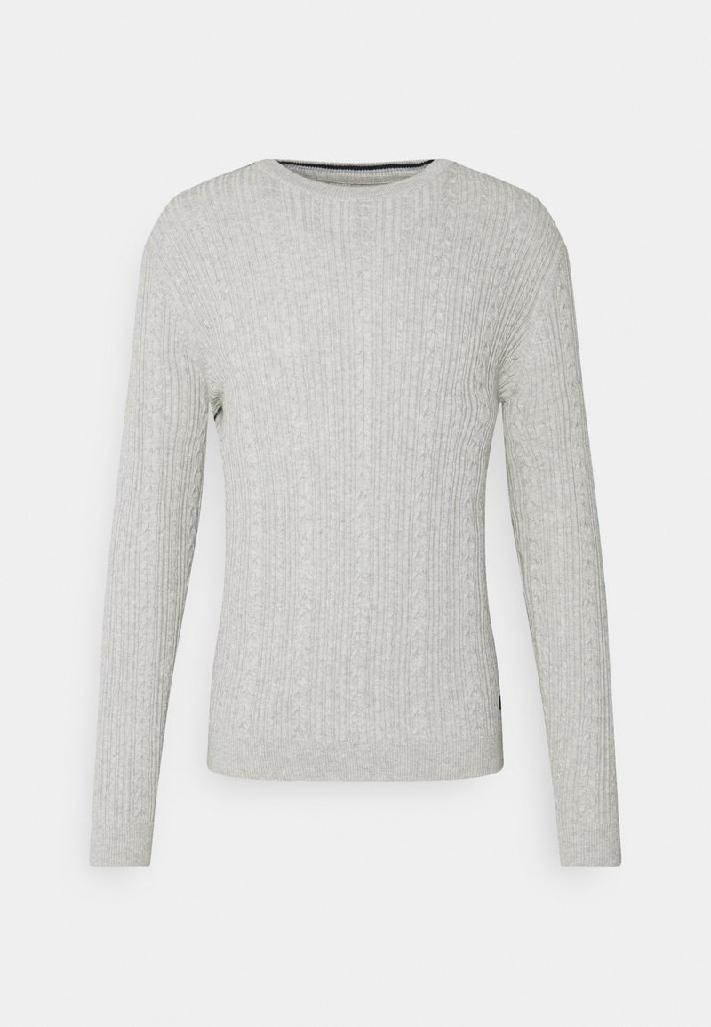 Only & Sons - ONSRIGE THIN CABLE CREW NECK - Jumper - light grey melange