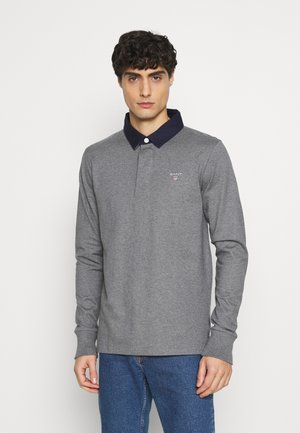 THE ORIGINAL HEAVY RUGGER - Polo - mottled dark grey