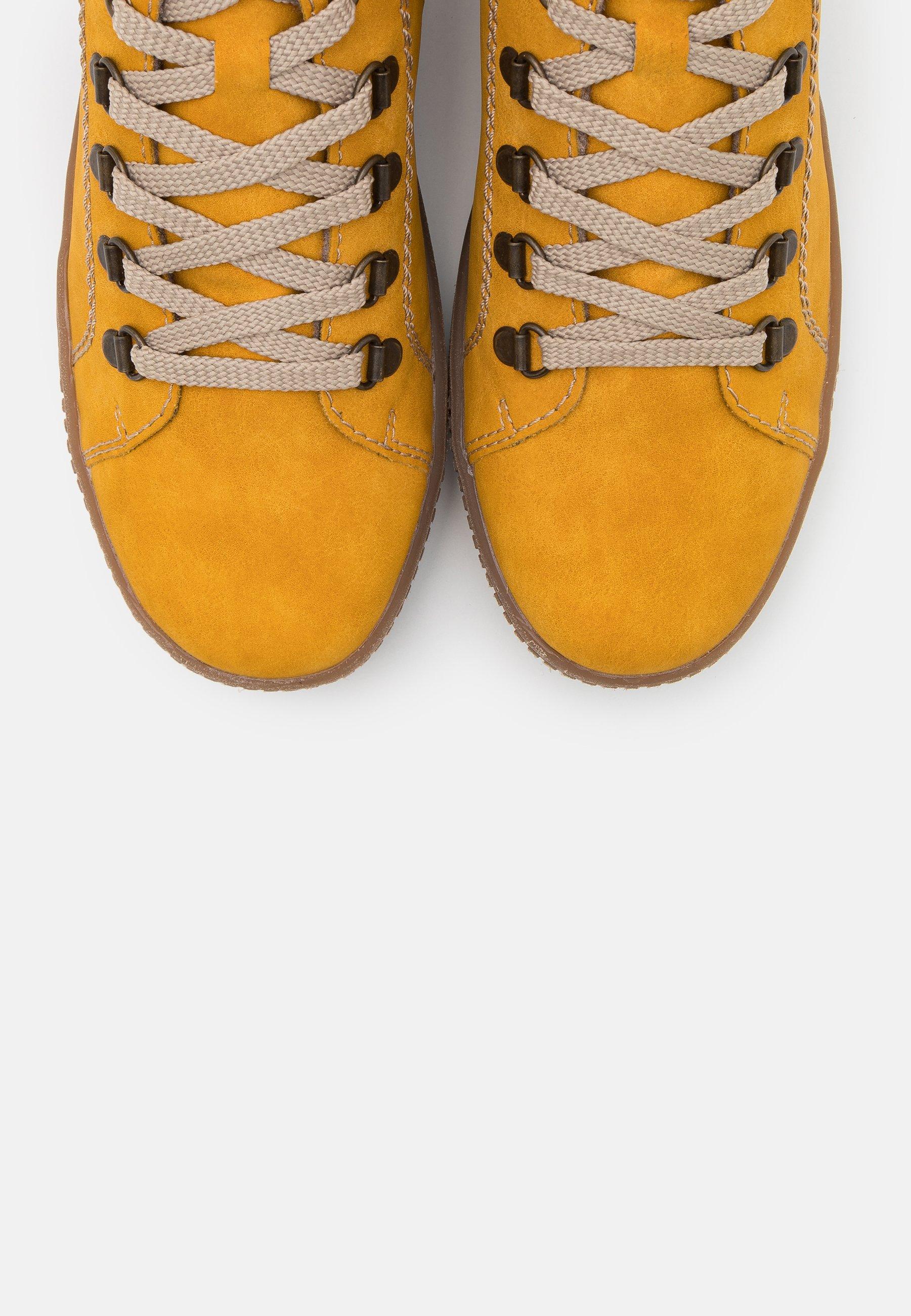 Rieker Sneakersy Wysokie - Honig/orange/multicolor