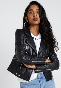Vero Moda - VMDREAM SHORT JACKET - Skinnjakke - black/cafe au lait lining - 0