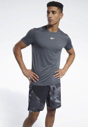 WORKOUT READY MÉLANGE T-SHIRT - T-shirts basic - black