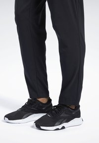 Reebok - WORKOUT READY TRACKSTER PANTS - Trainingsbroek - black - 3