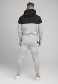 SIKSILK - SIKSILK MOTION TAPE ZIPTHROUGH - Hoodie - black/ grey - 2