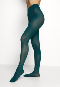 Lindex - 50 DEN RECYCLED 3D - Tights - dark dusty turquoise - 0