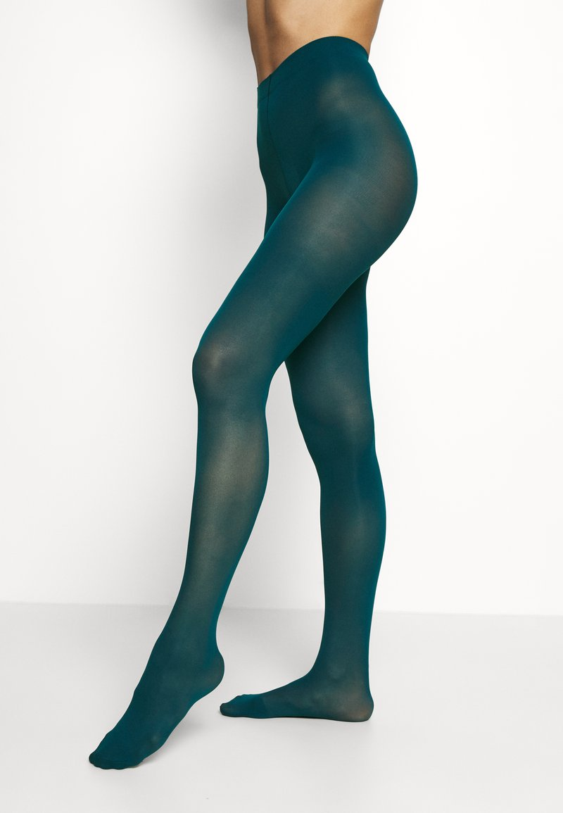 Lindex - 50 DEN RECYCLED 3D - Tights - dark dusty turquoise