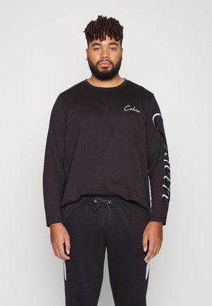 SCRIPT LONG SLEEVE - Långärmad tröja - black