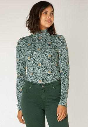 ANN - Long sleeved top - greyed mint/multicol