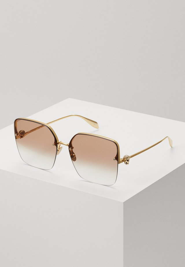 SUNGLASS WOMAN  - Lunettes de soleil - gold-coloured/brown