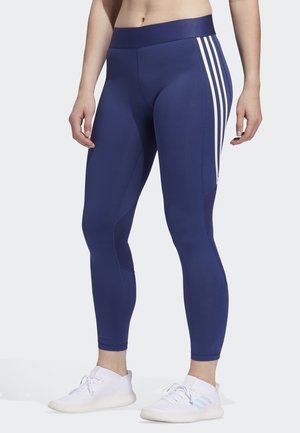 ALPHASKIN 3-STRIPES LONG LEGGINGS - Leggings - blue