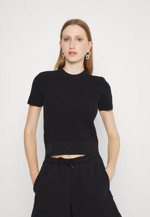 LOGO TAPE - Camiseta estampada - black