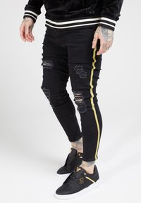 SIKSILK - DISTRESSED TAPED - Jeans Skinny Fit - washed black - 4
