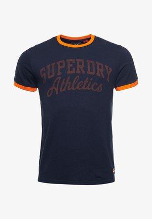 AMERICANA RINGER - Print T-shirt - nautical navy