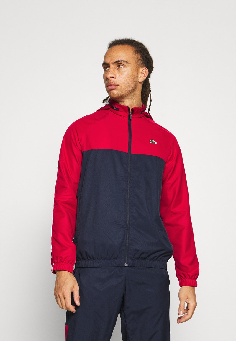 Lacoste Sport - TRACK SUIT - Tracksuit - navy blue/ruby/white