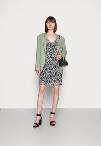 Fabienne Chapot - MARIE DRESS - Shift dress - black/emerald - 1