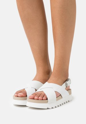 SANTAMONICA SUNRISE XBAND - Platform sandals - white