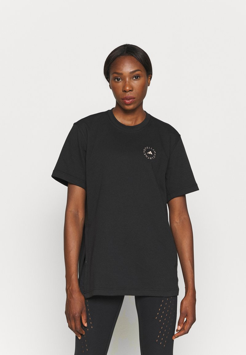 adidas by Stella McCartney - TEE - T-shirt z nadrukiem - black