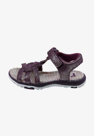 MIT KLETTVERSCHLUSS - Walking sandals - purple