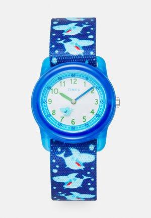 YOUTH ANALOG STRAP SHARKS UNISEX - Hodinky - blue