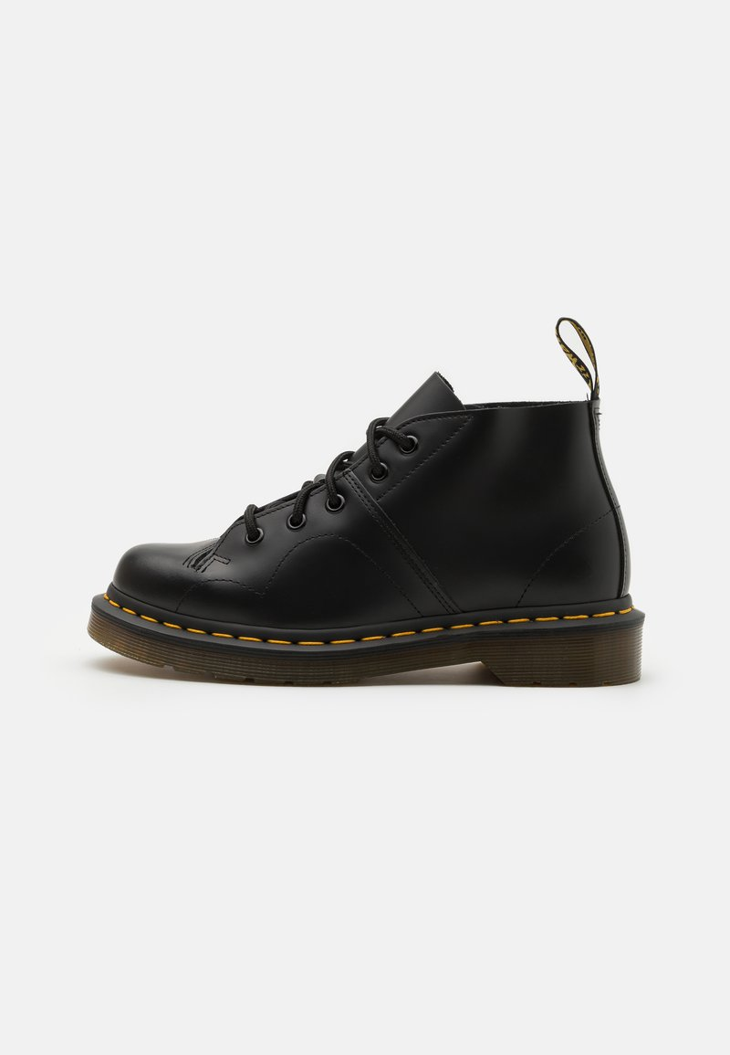 Dr. Martens - CHURCH MONKEY BOOT UNISEX - Lace-up ankle boots - black smooth