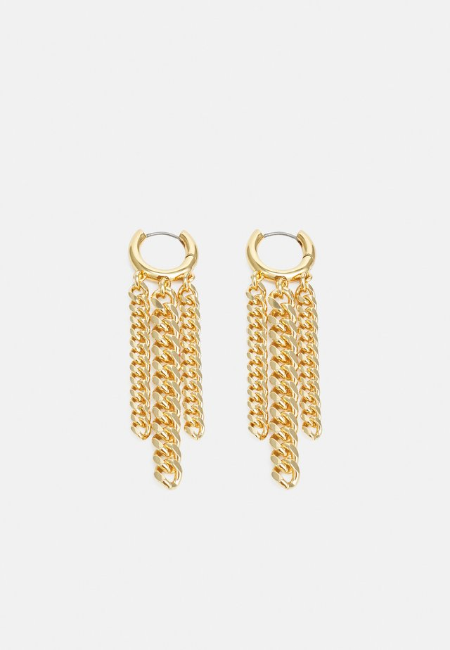 CURB CHAIN HUGGIE EARRING - Pendientes - gold-coloured