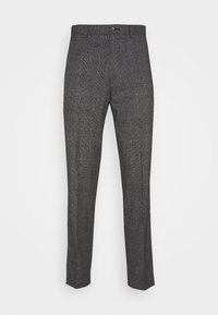 Isaac Dewhirst - CHECKED TROUSER FLAT FRONT - Broek - grey - 4